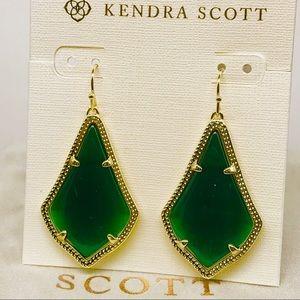KendraScott Alex Emerald Green Cat's Eye earrings